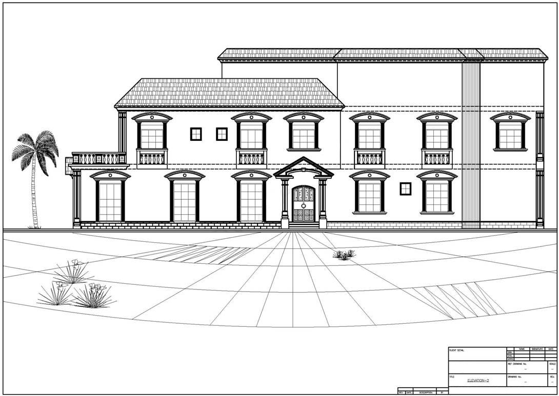 Architectural 2d drafting services for Architecture 2d